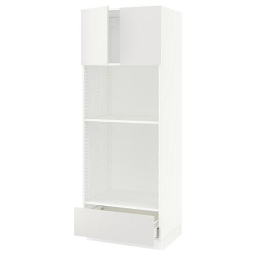 "SEKTION / FÖRVARA hi cb f oven/micro w drawer/2 doors white/Häggeby white 30 "" 24 "" 24 3/4 "" 80 """