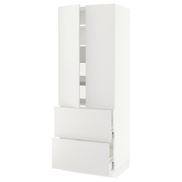"SEKTION / FÖRVARA high cab w 2drs/2 fronts/4 drawers white/Häggeby white 30 "" 24 "" 24 3/4 "" 80 """