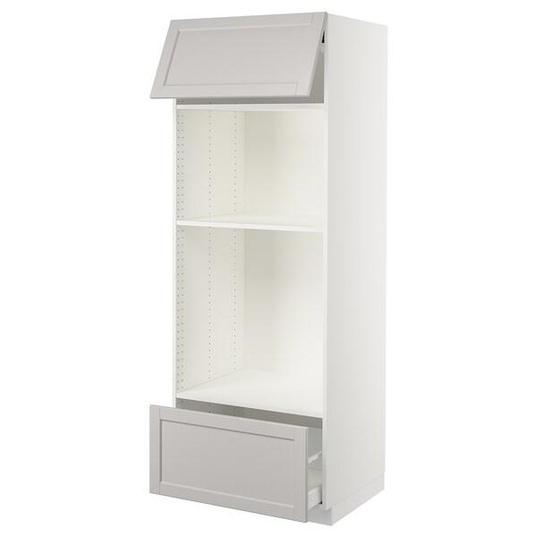 "SEKTION high cab f micro/oven+drawer/door white Maximera/Lerhyttan light gray 30 "" 24 3/4 "" 84 1/2 "" 24 "" 80 """
