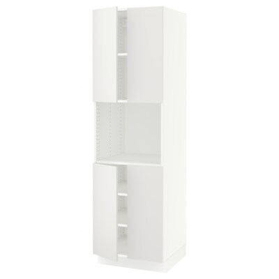 "SEKTION high cabinet for micro w 4 doors white/Häggeby white 24 "" 24 "" 24 3/4 "" 80 """