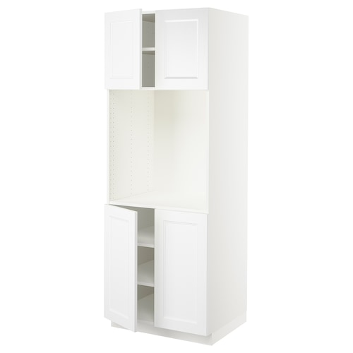 """SEKTION high cabinet for oven w 4 doors white/Axstad matt white 30 """" 24 """" 24 3/4 """" 80 """""""