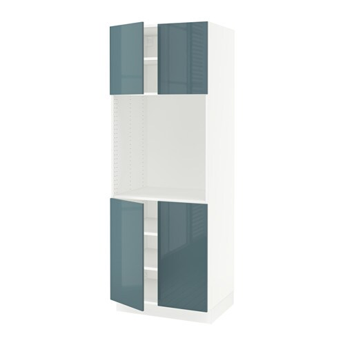 doors  white, Kallarp high gloss gray turquoise, 30x24x80    IKEA