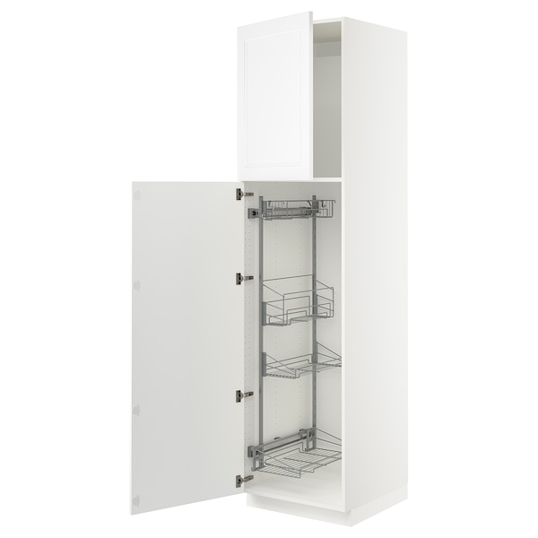 SEKTION High cabinet/pull-out int fittings, white/Axstad matt white, 24x24x90 ""