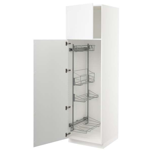 """SEKTION High cabinet/pull-out int fittings, white/Axstad matt white, 24x24x80 """""""