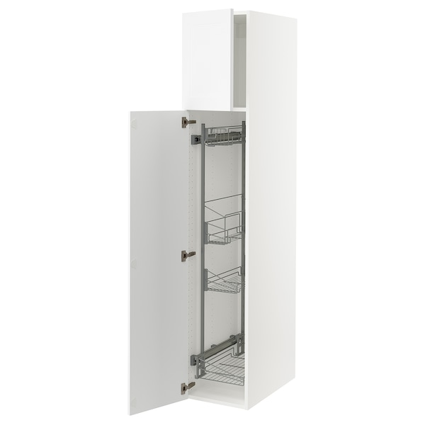 """SEKTION High cabinet/pull-out int fittings, white/Axstad matt white, 15x24x80 """""""