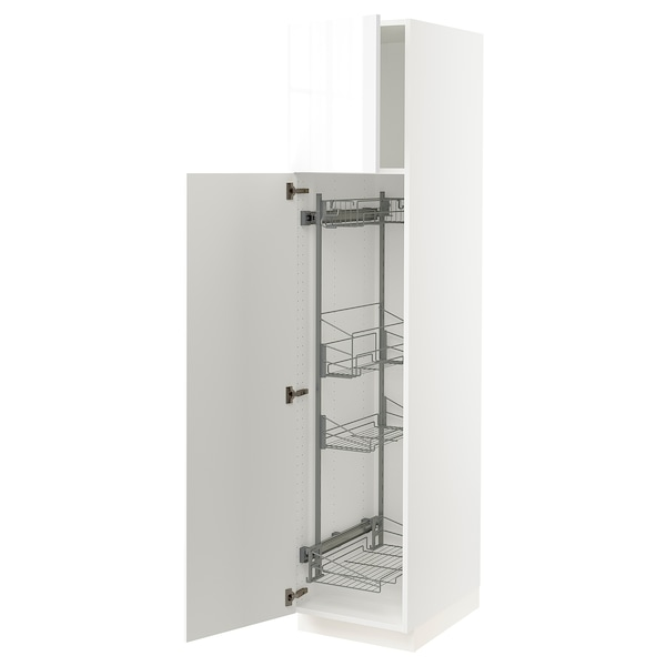 """SEKTION High cabinet/pull-out int fittings, white/Ringhult white, 18x24x80 """""""