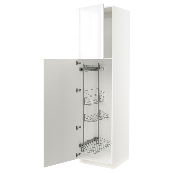"""SEKTION High cabinet/pull-out int fittings, white/Ringhult white, 24x24x90 """""""