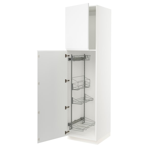 """SEKTION High cabinet/pull-out int fittings, white/Voxtorp matt white, 24x24x90 """""""