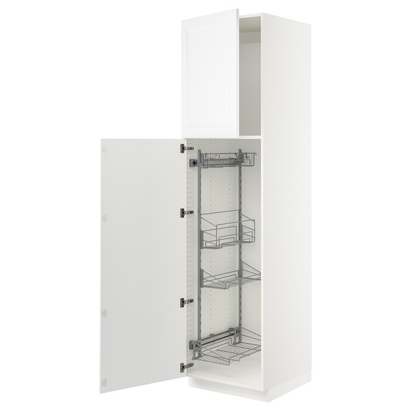 Sektion High Cabinet Pull Out Int Fittings White Axstad Matt