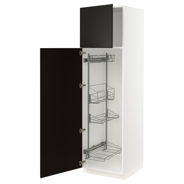 """SEKTION high cabinet/pull-out int fittings white/Kungsbacka anthracite 24 """" 24 """" 24 3/4 """" 80 """""""