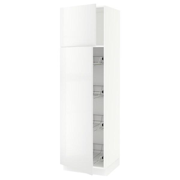 "SEKTION High cabinet w door/wire baskets, white/Ringhult white, 24x24x80 """