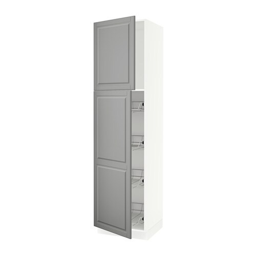 Wire Cabinet | Sektion High Cabinet W Door Wire Baskets Bodbyn Gray 24x24x90