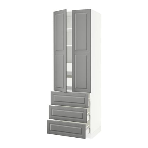 Wohnzimmer Schränke Bei Ikea ~ SEKTION High cabinet w 2 doors & 5 drawers IKEA FÖRVARA drawer can be
