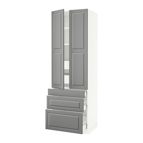 Sektion High Cabinet W 2 Doors Amp 5 Drawers White F 246