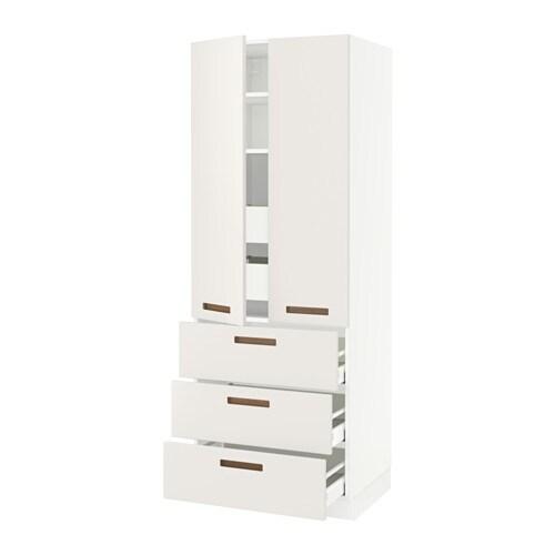 Sektion High Cabinet W  Drawers White Ma Bodbyn Gray Xx Ikea