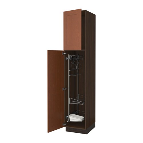 Sektion High Cabinet W Pull Out Organizers Wood Effect