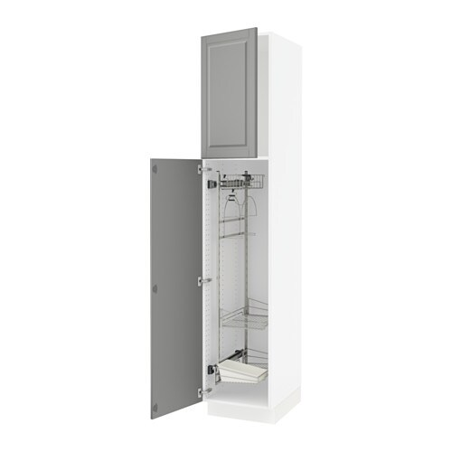 Sektion High Cabinet W Pull Out Organizers White Bodbyn