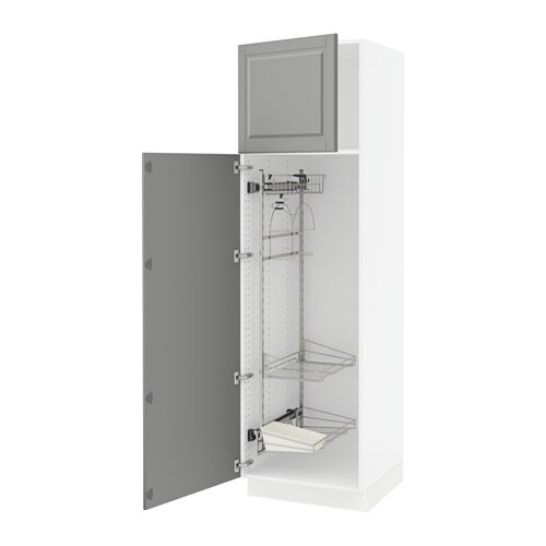 SEKTION High cabinet w/pull-out organizers - Bodbyn gray, 24x24x80 ...