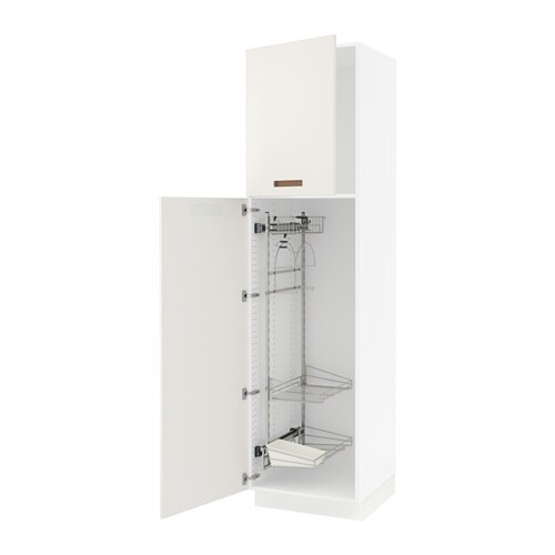sektion high cabinet w pull out organizers white m rsta white 24x24x90 ikea. Black Bedroom Furniture Sets. Home Design Ideas