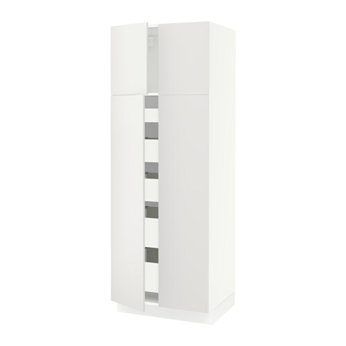 Sektion High Cabinet With 4 Doors 5 Drawers White Maximera Haggeby White