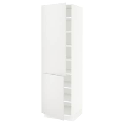 SEKTION High cabinet with shelves/2 doors, white/Häggeby white, 24x24x80 ""