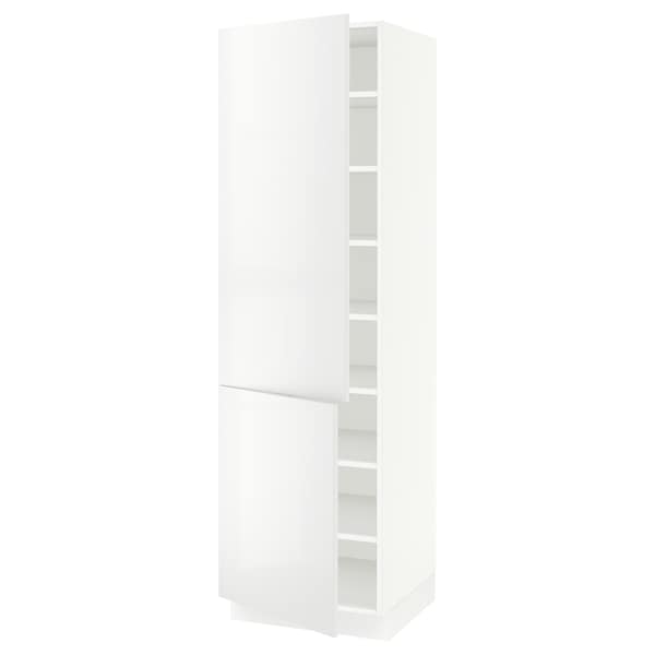 SEKTION High cabinet with shelves/2 doors, white/Ringhult white, 24x24x80 ""