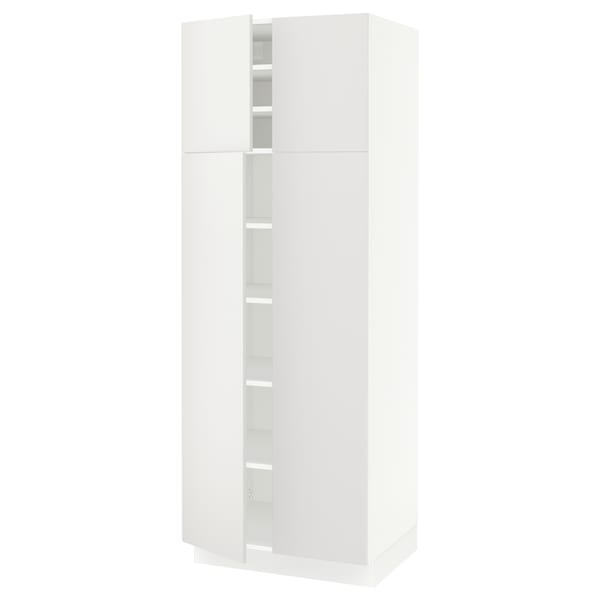 """SEKTION high cabinet with shelves/4 doors white/Häggeby white 30 """" 24 """" 24 3/4 """" 80 """""""