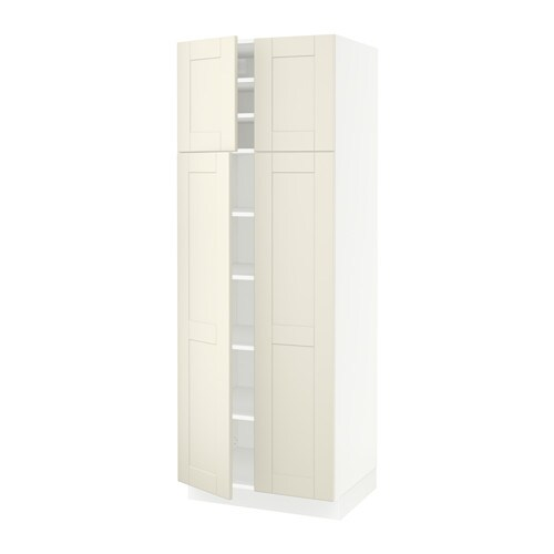 SEKTION High cabinet with shelves u0026 4 doors  sc 1 st  Ikea & SEKTION High cabinet with shelves u0026 4 doors - Grimslöv off-white ...