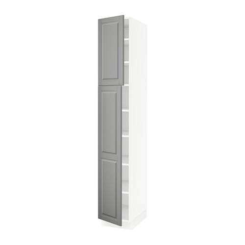 SEKTION High cabinet with shelves & 2 doors - Bodbyn gray, 15x24x90 ...