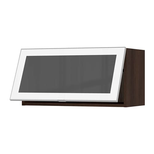 Glass Door Cabinet Ikea Kitchen ~ SEKTION Horizontal wall cabinet glass door  wood effect brown, Jutis