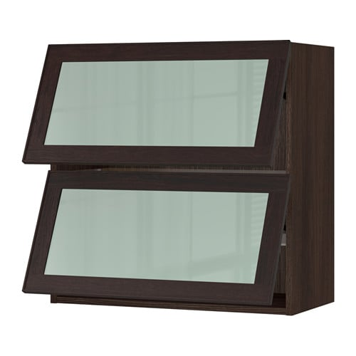 sektion horizontal wall cabinet glass door brown__0297176_PE505692_S4