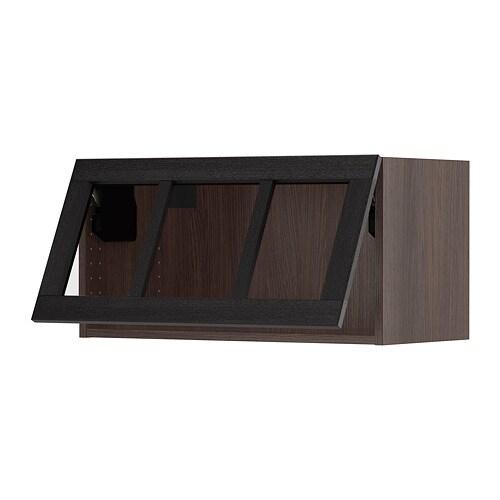 SEKTION Horizontal wall cabinet/glass door  sc 1 st  Ikea & SEKTION Horizontal wall cabinet/glass door - wood effect brown Lerh ...