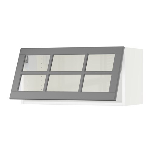 Glass Door Cabinet Ikea Kitchen ~ SEKTION Horizontal wall cabinet glass door  white, Bodbyn gray  IKEA