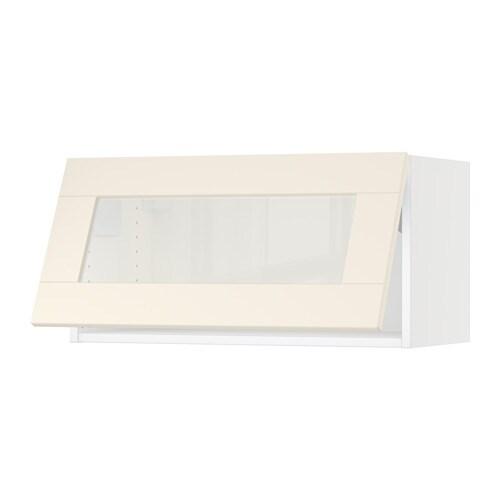 Ideas Habitacion Juvenil Ikea ~   Horizontal wall cabinet glass door  white, Grimslöv off white  IKEA