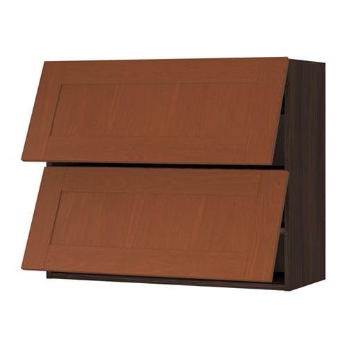 Sektion Horizontal Wall Cabinet W 2 Doors Wood Effect Brown Grimsl V Medium Brown 36x15x30