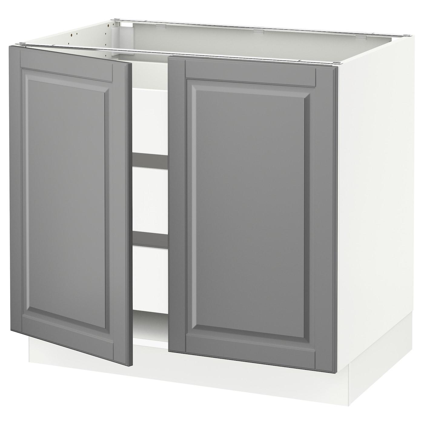 SEKTION / MAXIMERA Base cabinet w 2 doors/3 drawers, white ...