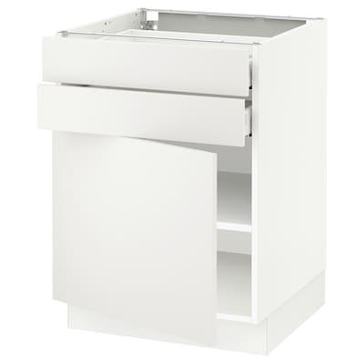"SEKTION / MAXIMERA Base cabinet w door/2 drawers, white/Häggeby white, 24x24x30 """