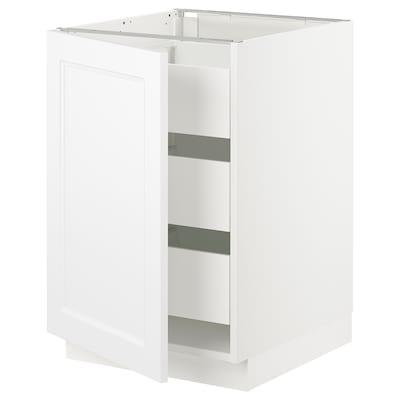 "SEKTION / MAXIMERA Base cabinet with 1 door/3 drawers, white/Axstad matt white, 21x24x30 """