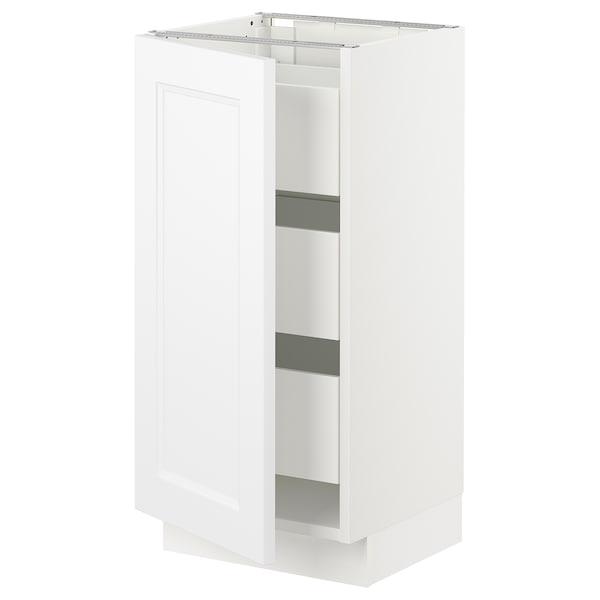 "SEKTION / MAXIMERA Base cabinet with 1 door/3 drawers, white/Axstad matt white, 15x15x30 """
