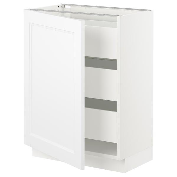 "SEKTION / MAXIMERA Base cabinet with 1 door/3 drawers, white/Axstad matt white, 24x15x30 """