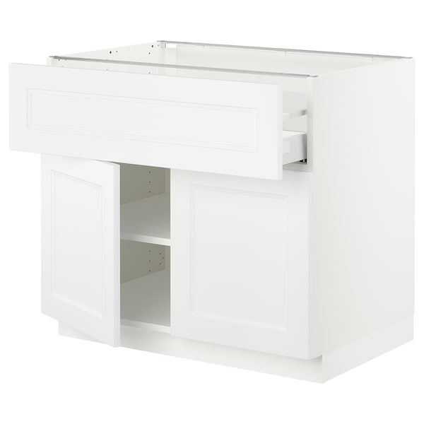 SEKTION / MAXIMERA Base cabinet with drawer/2 doors, white/Axstad matt white, 36x24x30 ""