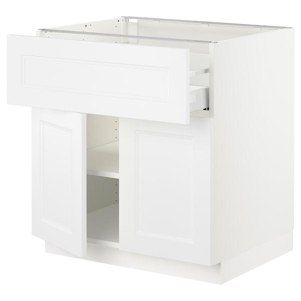 "SEKTION / MAXIMERA Base cabinet with drawer/2 doors, white/Axstad matt white, 30x24x30 """