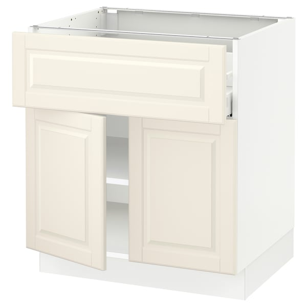 """SEKTION / MAXIMERA Base cabinet with drawer/2 doors, white/Bodbyn off-white, 30x24x30 """""""