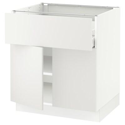 "SEKTION / MAXIMERA Base cabinet with drawer/2 doors, white/Häggeby white, 30x24x30 """