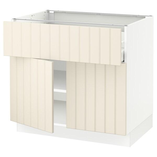 """SEKTION / MAXIMERA Base cabinet with drawer/2 doors, white/Hittarp off-white, 36x24x30 """""""