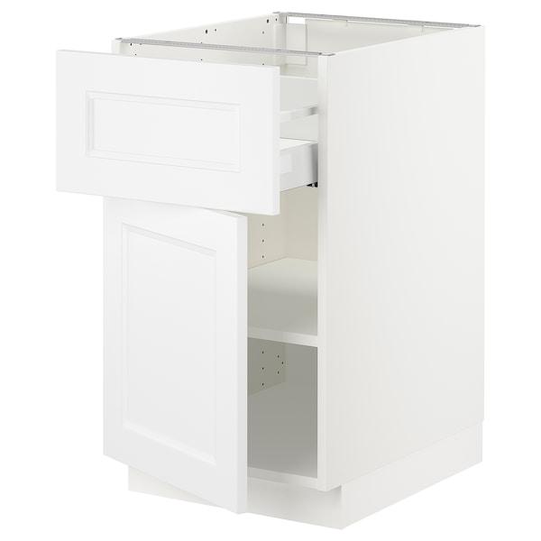 "SEKTION / MAXIMERA Base cabinet with drawer/door, white/Axstad matt white, 18x24x30 """