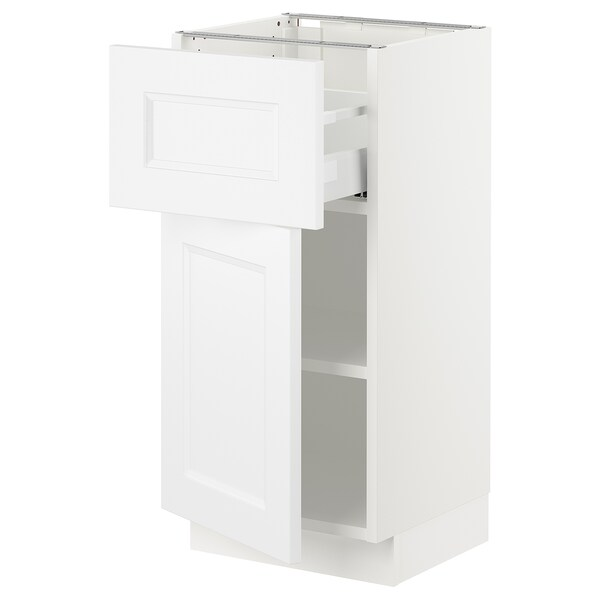 SEKTION / MAXIMERA Base cabinet with drawer/door, white/Axstad matt white, 15x15x30 ""