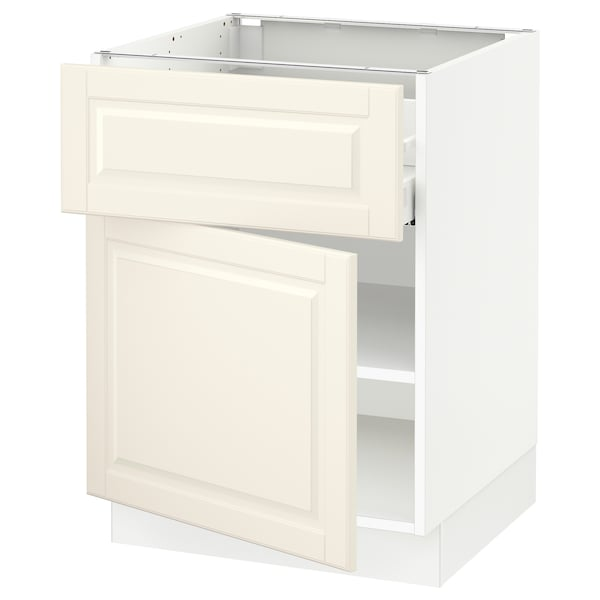 """SEKTION / MAXIMERA Base cabinet with drawer/door, white/Bodbyn off-white, 24x24x30 """""""