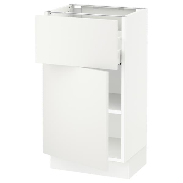"SEKTION / MAXIMERA Base cabinet with drawer/door, white/Häggeby white, 18x15x30 """