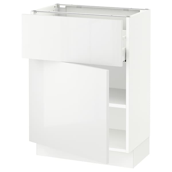 """SEKTION / MAXIMERA Base cabinet with drawer/door, white/Ringhult white, 24x15x30 """""""